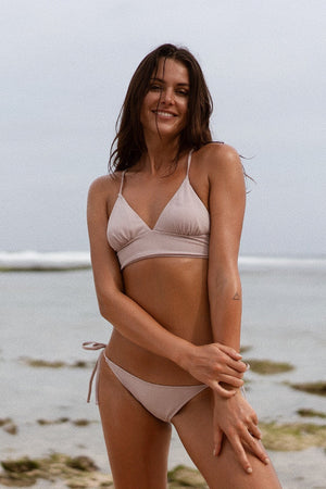 Triangle bikini - rose beige