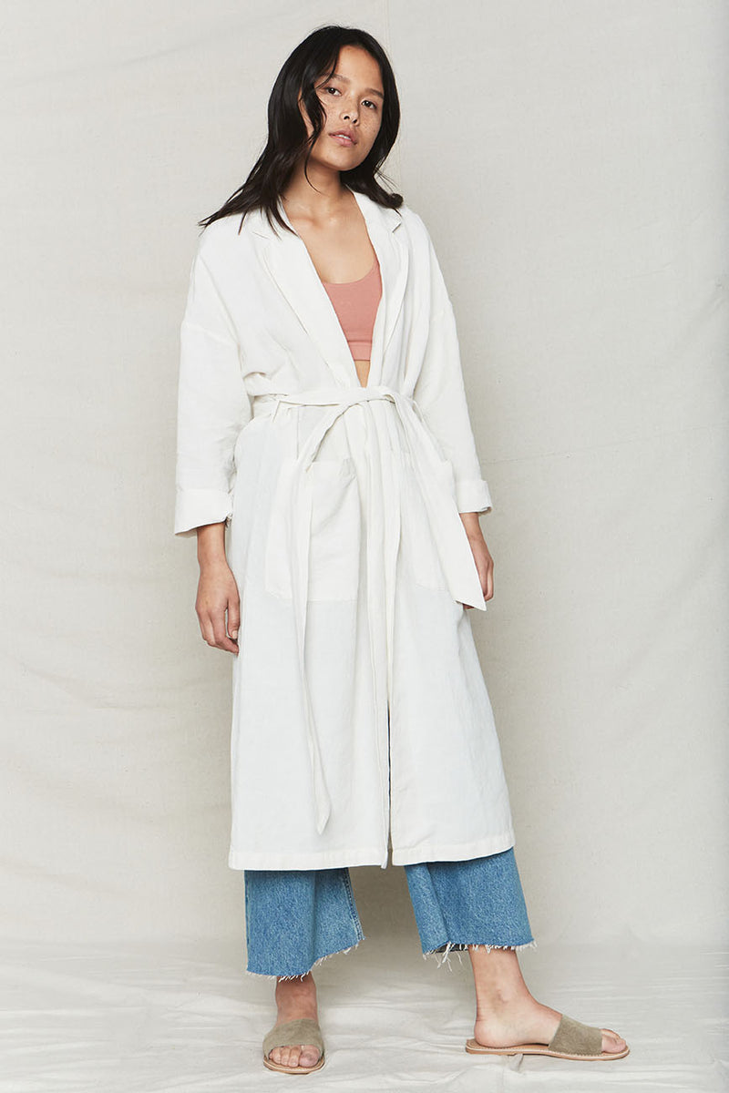 Natural Plant Dyed Linen Easy Robe
