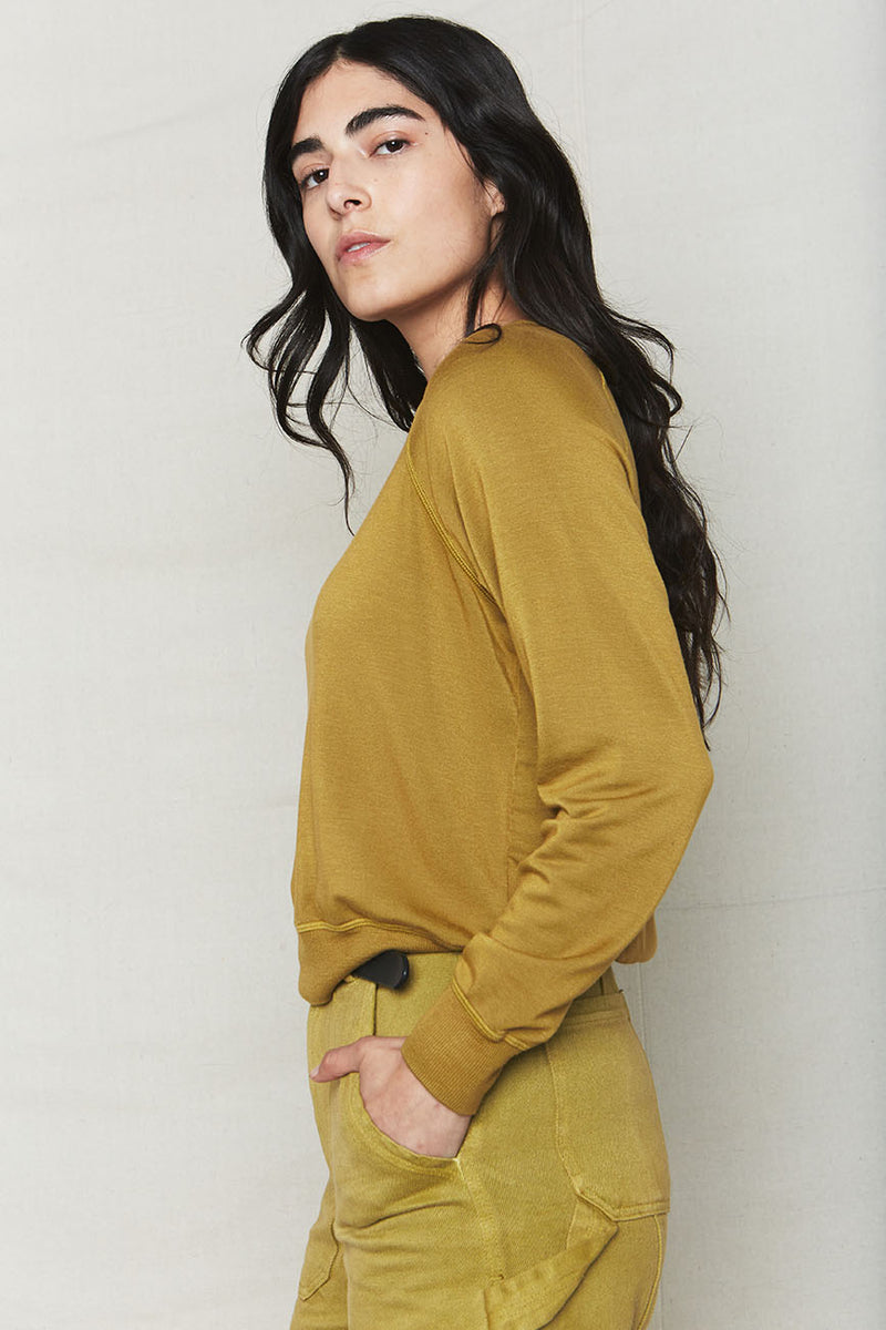 Avocado Tencel Cropped Sweatshirt