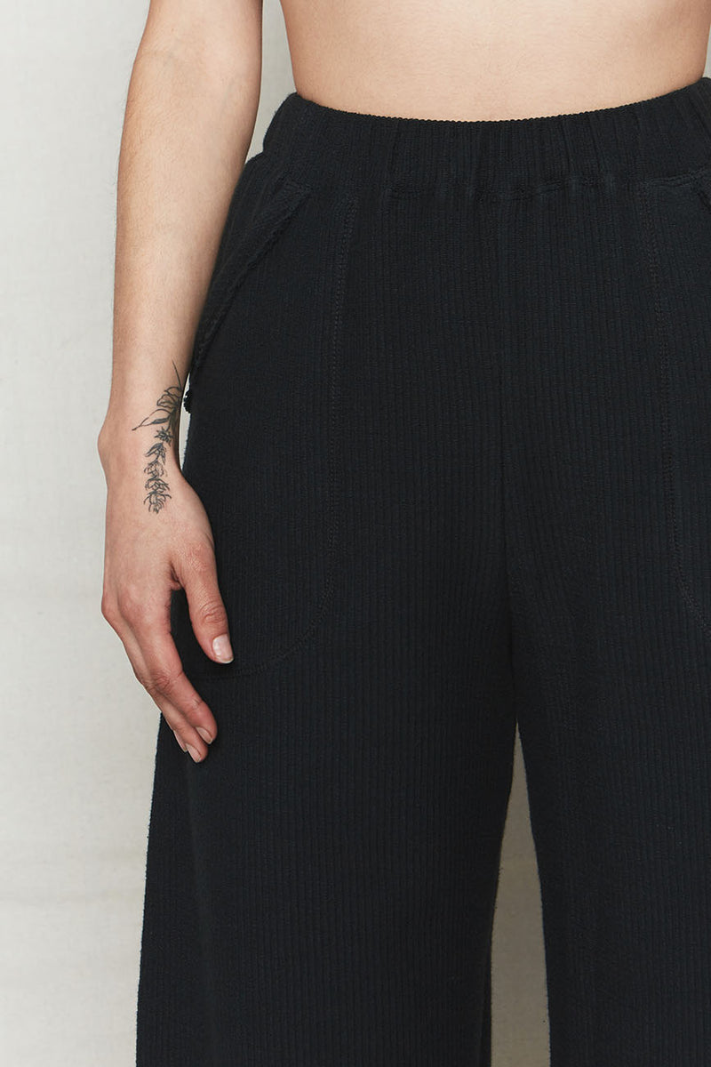 Vintage Black Cali Organic Cotton Lounge Pant
