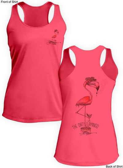 NEW! Dirty Flamingo- Ladies Racerback Tank-100% Polyester
