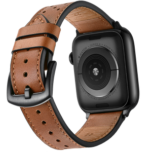 Modern Classic Leather Apple Watch Band - Brown