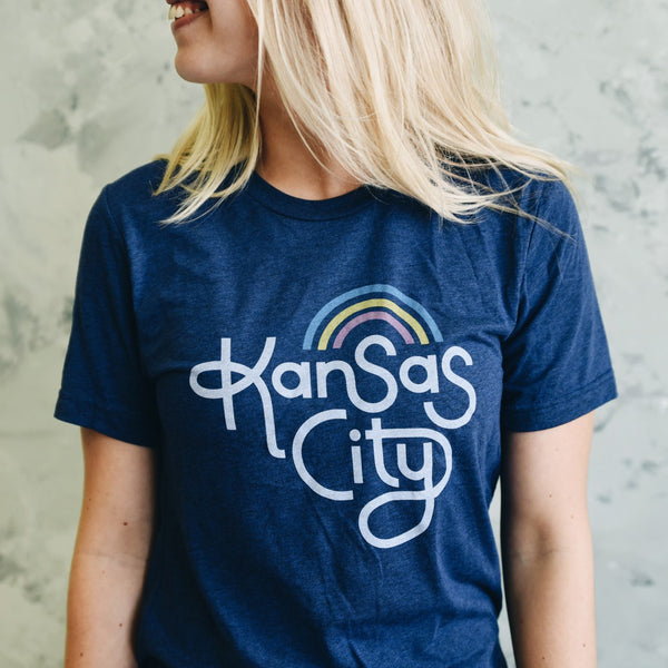 Ampersand Design Studio Kansas City Retro Tee - Navy