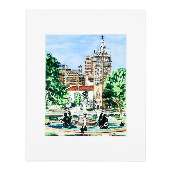 Art From Architecture JC Nichols Fountain Print