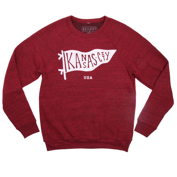 Bellboy Apparel Kansas City Pennant Sweatshirt - Berry
