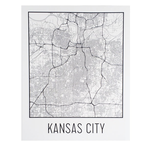 Flint & Field Kansas City Map Print White