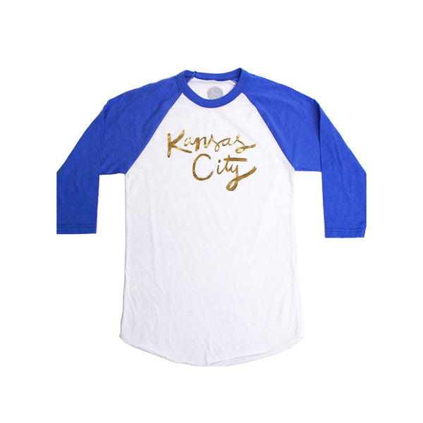 Ampersand Designs Kansas City Gold Foil Raglan