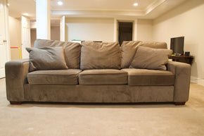 Havertys 3 Seat Tan Sofa