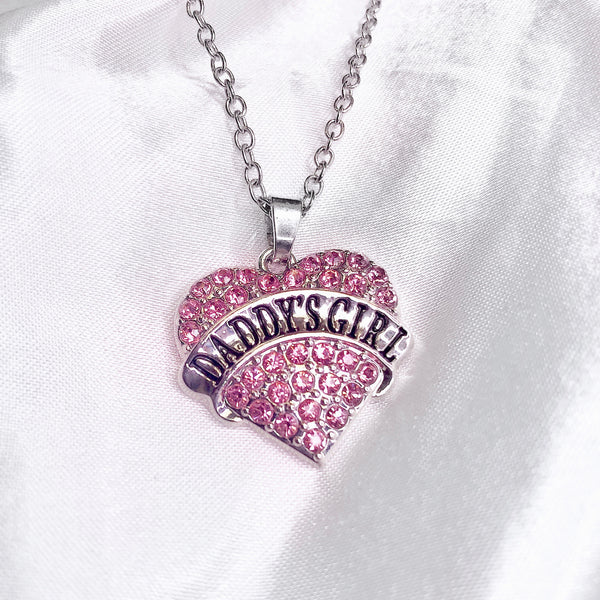 Daddy's Girl Heart Pendant Necklace