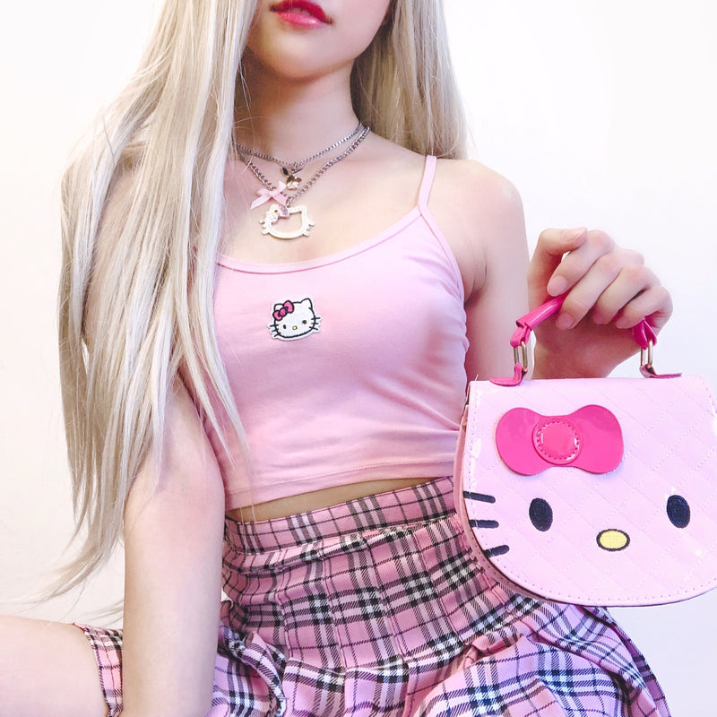 Daddy's Kitty Crop Cami