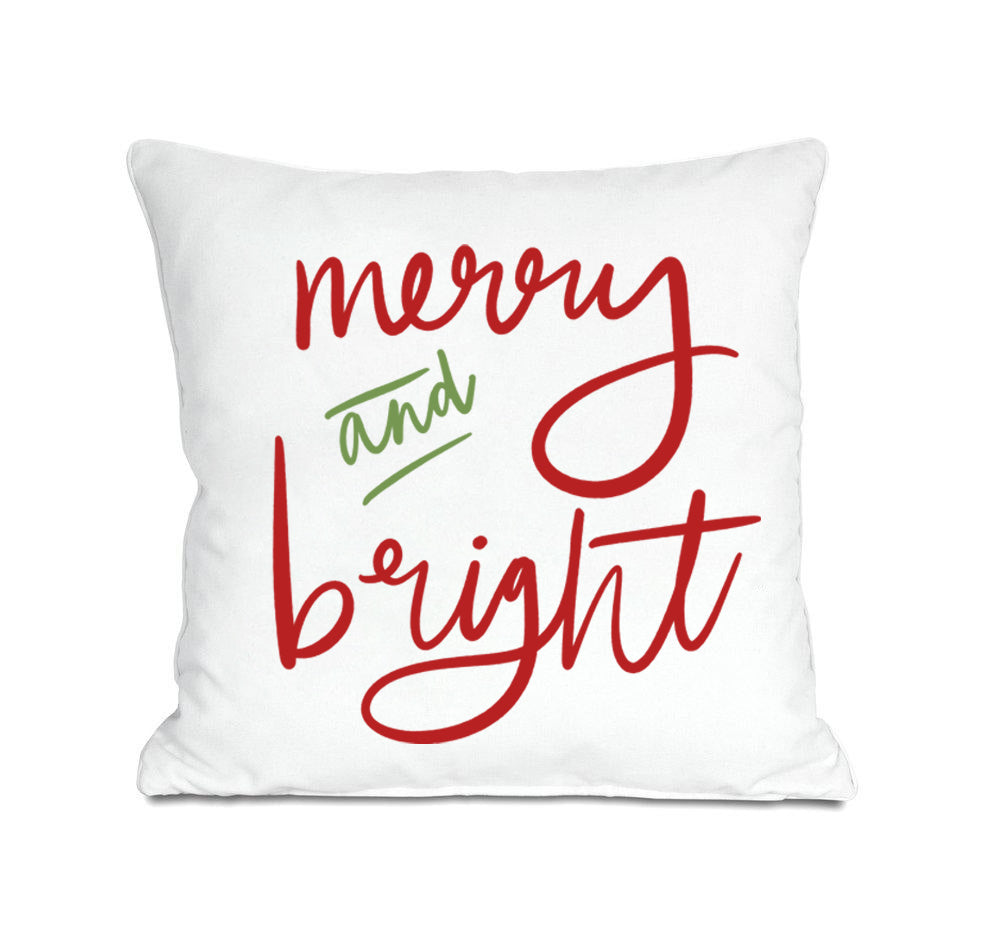 Merry and Bright Pillow Cover