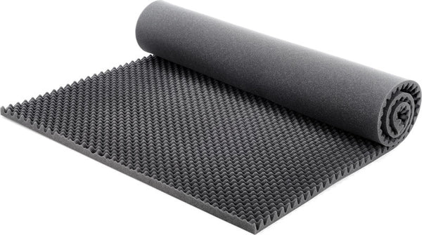 "SOUNDPROOF FOAM PROFESSIONAL EGG CRATE ACOUSTIC FOAM. 2"" X 48"" X 96"" (1 PIECE) CHARCOAL"