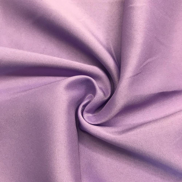 "Lilac Matte Satin (Peau de soie) Dutchess Satin Fabric 60"" Inches 100% polyester By The Yard For Blouses, Dresses, Gowns and Skirts."