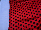Red/black 1/2inch Polka Dot Silky/soft Charmeuse Satin Fabric. (20 Yards)