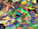 Sequins Hologram Fabric - Multi-Color Teardrops Oval 58 Inch Mesh Dress Top Sold By The Yard