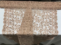 Nude Lace Fabric - By THe Yard Bridal Veil Corded Flowers Embroidery With Sequins For Wedding Dress