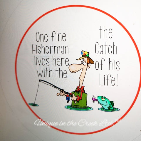 "One fine fisherman lives here""DIGITAL"" Image - Not a physical product"
