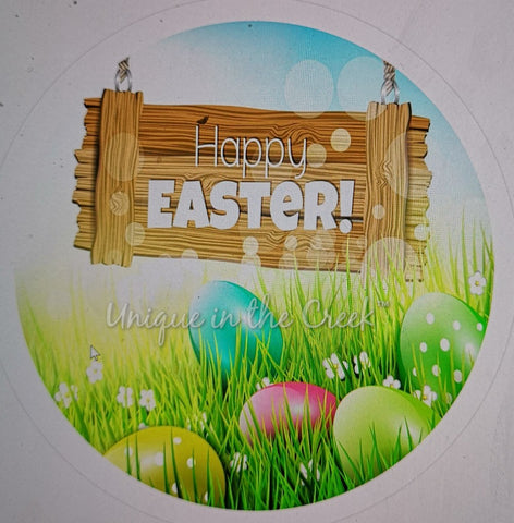 Happy Easter with wood sign- digital insert for use with the UITC system