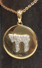 Load image into Gallery viewer, 14kt Chai Pendant