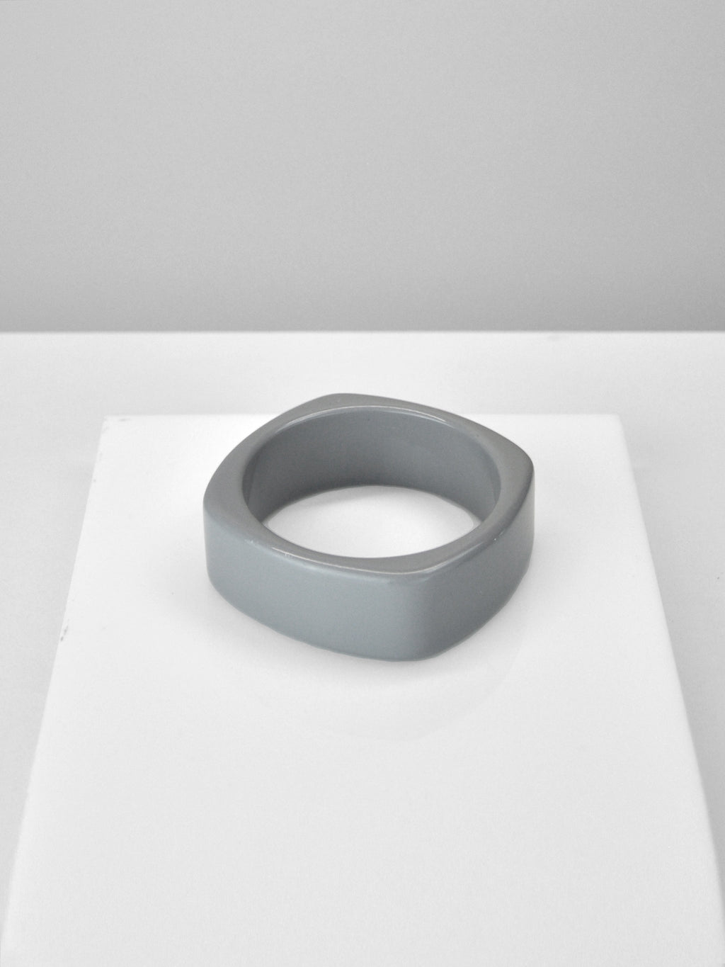 Acrylic Bangle - Square Slate