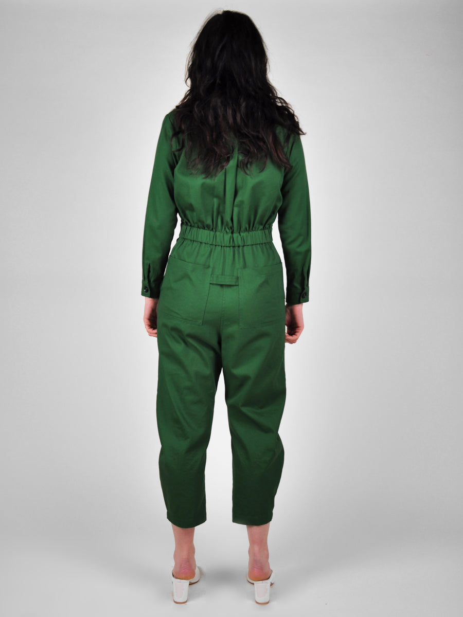Yaki Long Sleeve Coverall / Emerald Twill