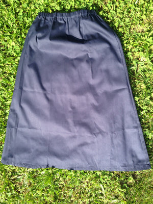 navy twill skirt elastic waist