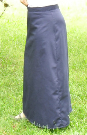 A Line Skirt - Side (navy on model)