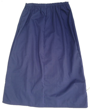 Long Fitted A-line Skirt with back elastic