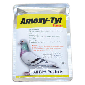 Amoxicillin and Tylosin powder for birds
