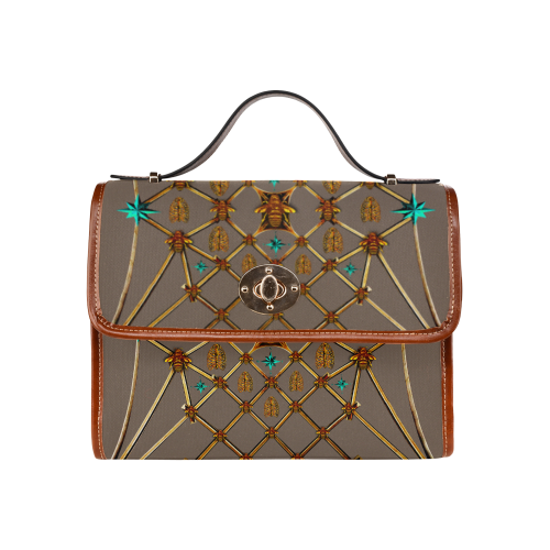Bee Divergent- Classic French Gothic Mini Brief Handbag in Cocoa Clay | Le Leanian™