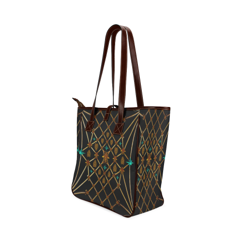 Gilded Bees & Ribs- Classic French Gothic Upscale Tote Bag in Back to Black | Le Leanian™