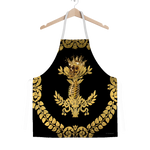 GOLD SKULL & GOLD WREATH-Classic APRON in Color BLACK