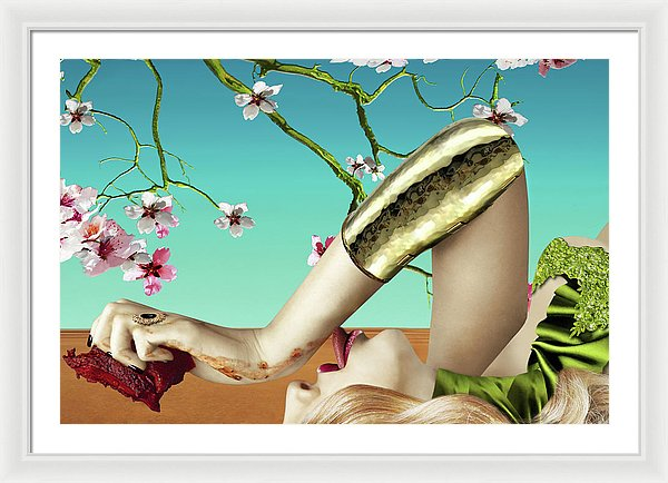 Dining Under Almond Blossoms Vol II - Framed Surreal Fine Art Portrait | The Photographist™
