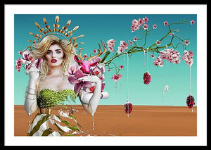 Southern Mother Magnolia - Surreal Fashion Framed Fine Art Portrait Print | The Photographist™