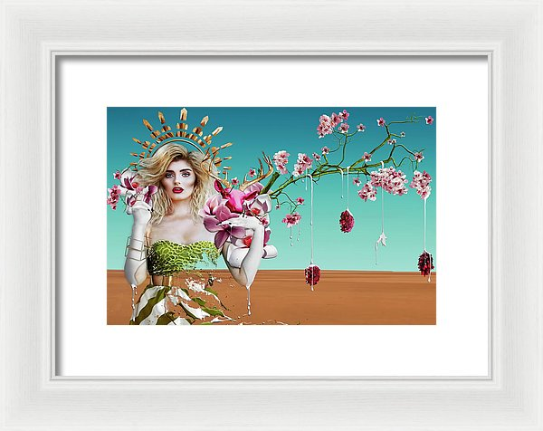 Southern Magnolia Madonna-Mother Mary-Framed Fine Art Print