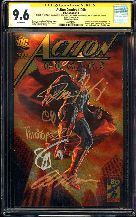 Action Comics #1000 - DC Boutique Edition - CGC SS 9.6 - 6 x Signed
