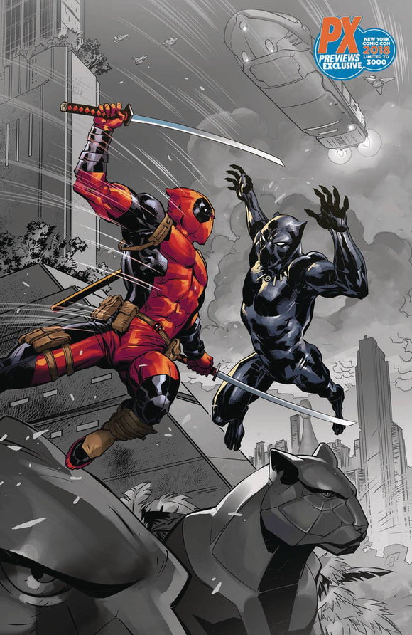 NYCC 2018 BLACK PANTHER VS. DEADPOOL #1 BENJAMIN VARIANT