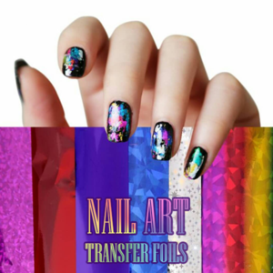 Nail Art Transfer Foils (12PCS 12 Colors)