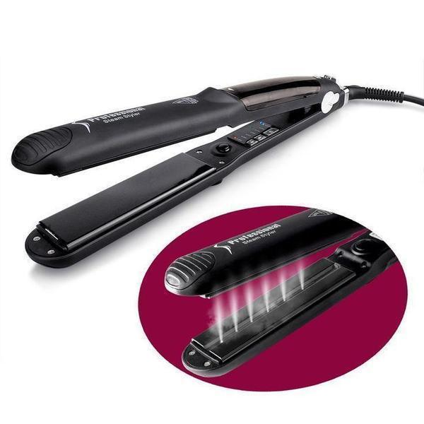 commentimes™ Salon Professional Steam Hair Straightener