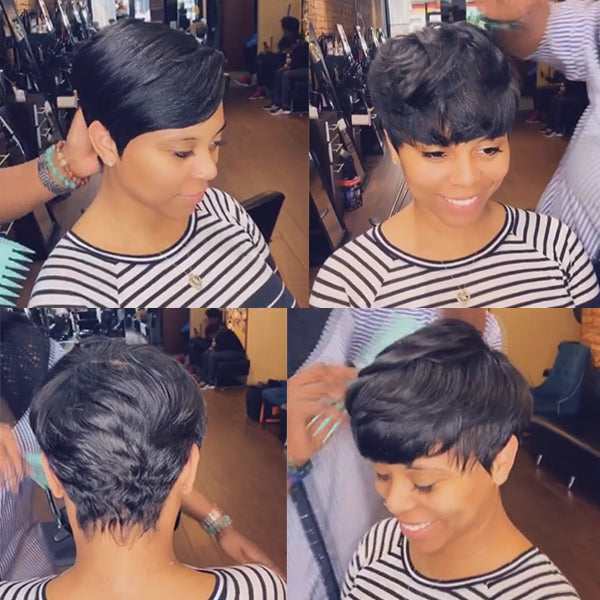 150% Density | Beautiful Short Pixie Wig - BEST009