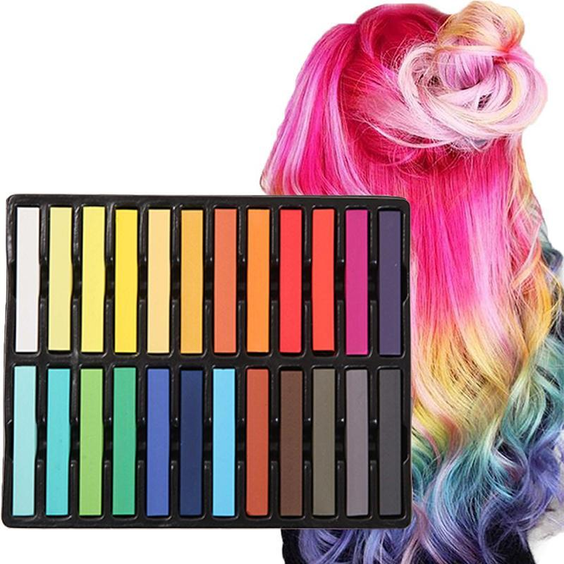 Hair Chalk Set 24 Color Temporary Hair Pastels