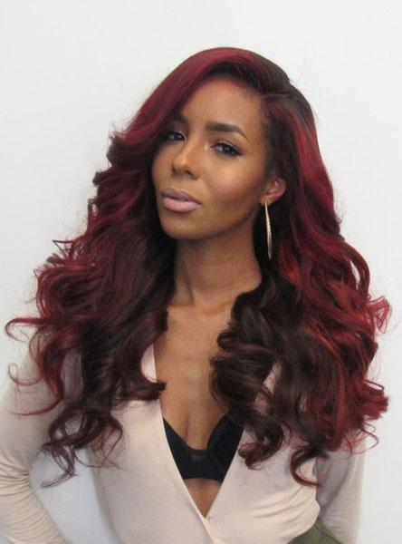 Beveled wave hair  Lace front wig (synthetic wig-Bod001