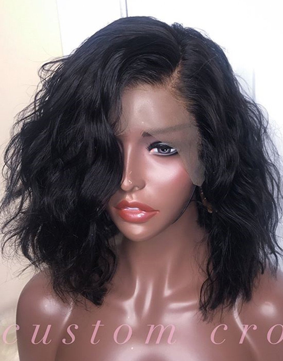 Curly hair Lace front wig synthetic wig-Bod002