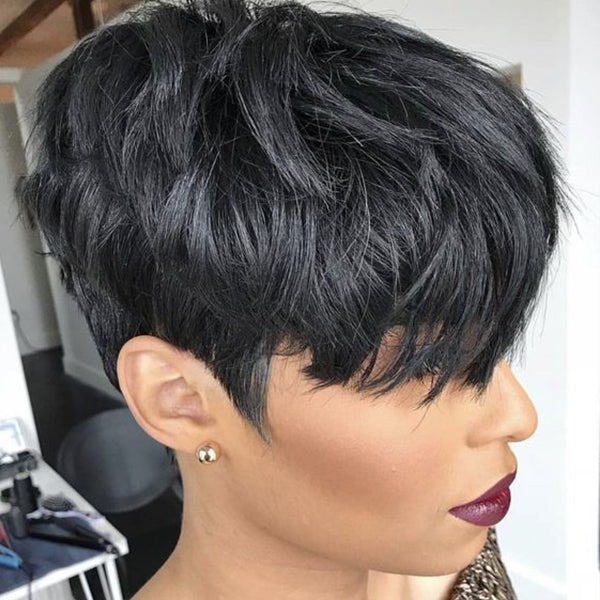 150% Density | Beautiful Short Pixie Wig - BEST008
