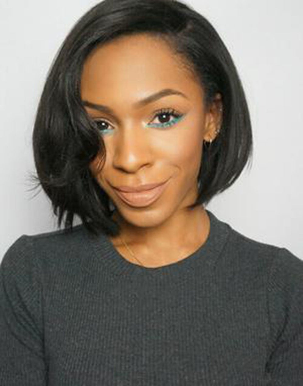 Straight Wigs Lace front wig synthetic wig-Bod008