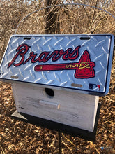 Load image into Gallery viewer, License Plate Birdhouse Atlanta Braves