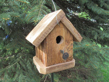 Load image into Gallery viewer, Birdhouse Cedar Rustic Primitive One Hole