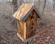 Load image into Gallery viewer, Birdhouse Cedar Rustic Primitive Tall Two Hole