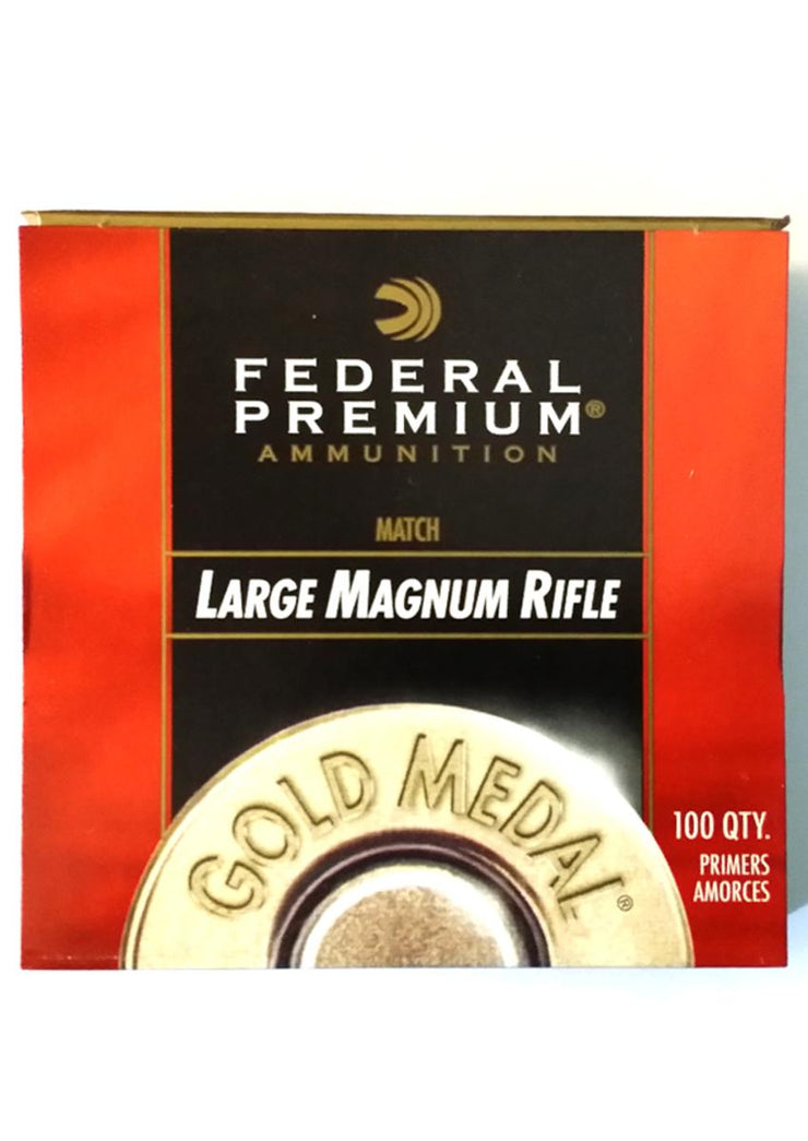 Federal  Magnum Large Rifle Primers Gold Medal Match (100)