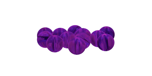 Acrylic Purple Beads (12 ct) - 6 mm